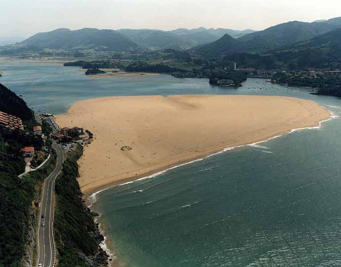 Laida beach of Ibarrangelu (Vizcaya)