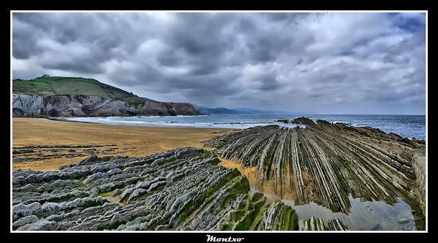 Praia Itzurun de Zumaya (Guipúscoa)