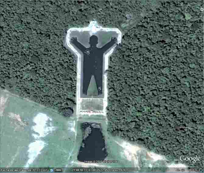 ARTIFICIAL LAKE IN THE FORM OF A MAN (BRAZIL)