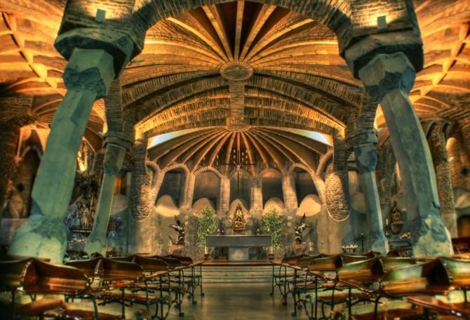 Crypt of Colonia Güell (Santa Coloma de Cervelló, Barcelona)