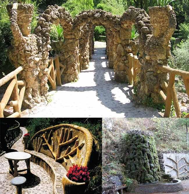 Les jardins de Can Artigas (La Pobla de Lillet, Barcelone)