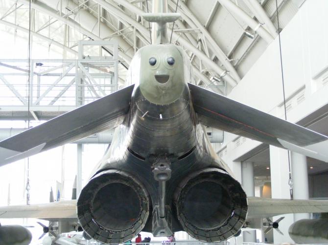 Lyckligt flygplan
