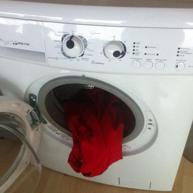 疲倦的洗衣机