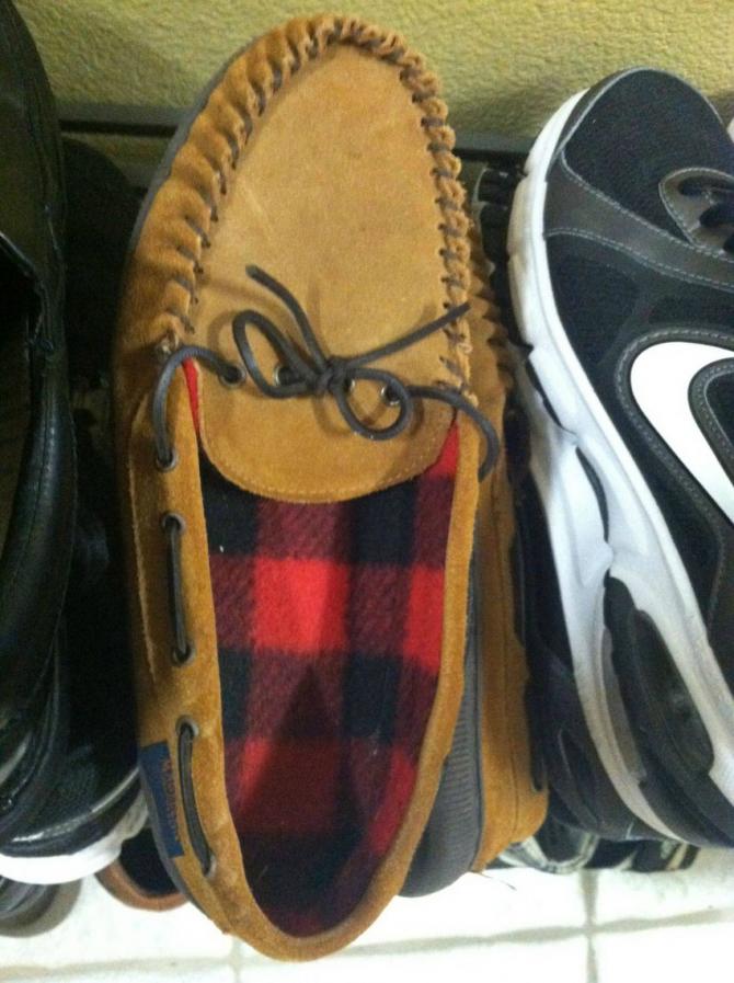 嘲讽的鹿皮鞋