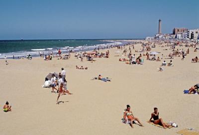 Правило пляжа в Чипиона (Кадис)