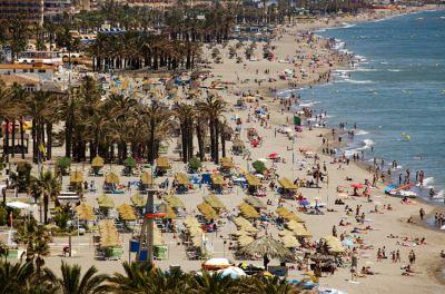 Bajondillo beach in Torremolinos (Málaga)