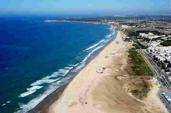 Beach of the Bateles in Conil de la Frontera (Cádiz)
