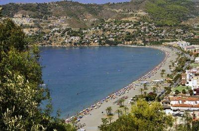 La Herradura beach in Almuñecar (Granada)