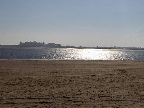 Plage centrale à Isla Cristina (Huelva)