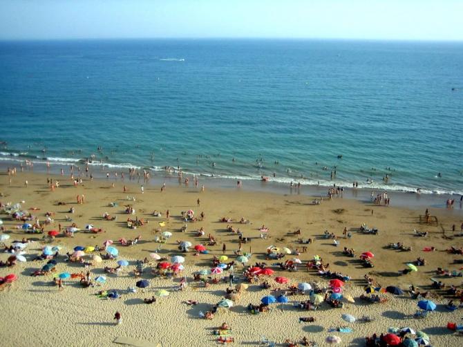 Playa de la Costilla en Rota ( Cádiz)
