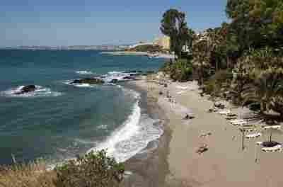 Playa de la Viborilla en Benalmádena ( Málaga)
