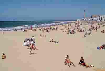Playa de regla en Chipiona ( Cádiz)