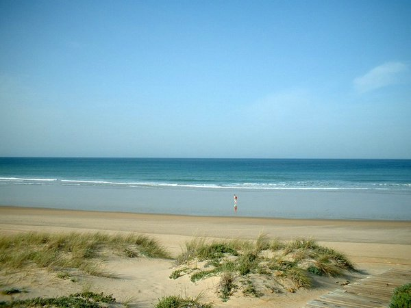 Playa de Sancti Petri en Chiclana ( Cádiz)