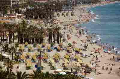 Playa del Bajondillo en Torremolinos ( Málaga)