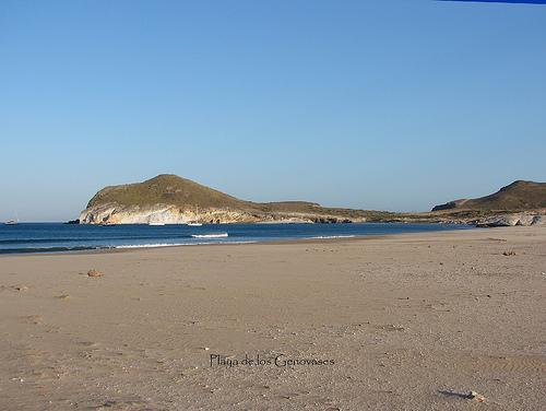 Playa los Genoveses en Níjar ( Almería)