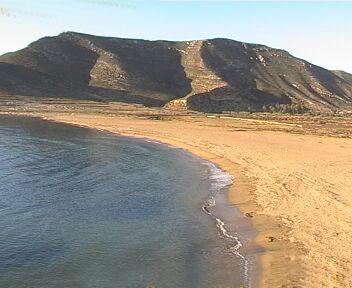Playazo de Rodalquilar beach in Níjar (Almería)