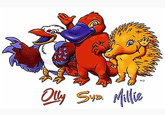 Olly, Sid and Millie (Sydney 2000).