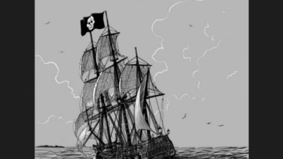 Objetos e animais que acompanham piratas