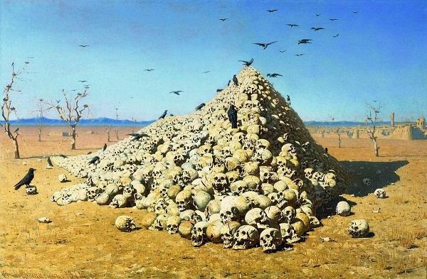 Apoteose da guerra por Vasily Vereshchagin