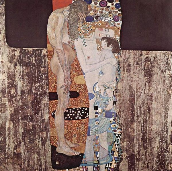 As três idades da esposa de Gustav Klimt