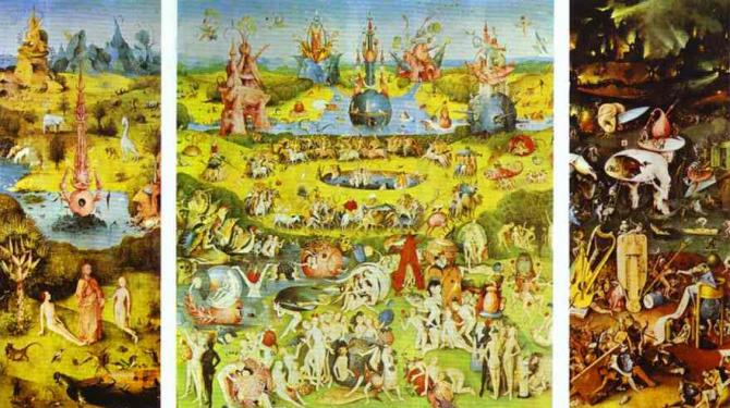O Jardim das Delícias Terrenas, de Hieronymus Bosch (El Bosco)