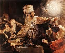 The feast of Baltasar de Rembrandt