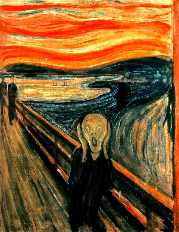 The shout of Edvard Munch