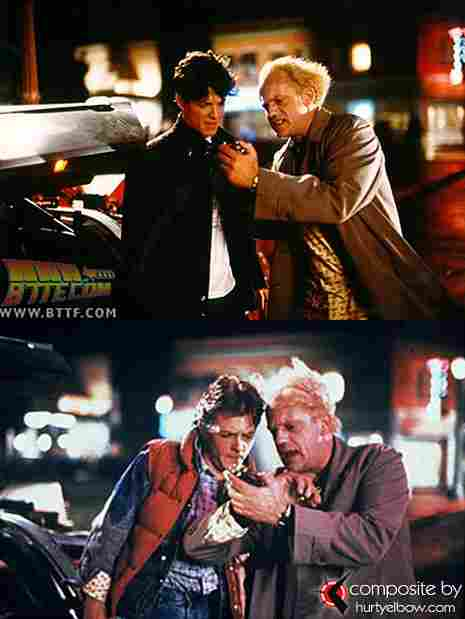 "Marty McFly in Back to the Future (1985). ""Rejected"" by Eric Stoltz. Played by Michael J. Fox"