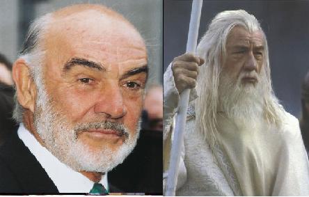 Sean Connery rechazó el papel de el mago Gandalf  en El señor de los anillos