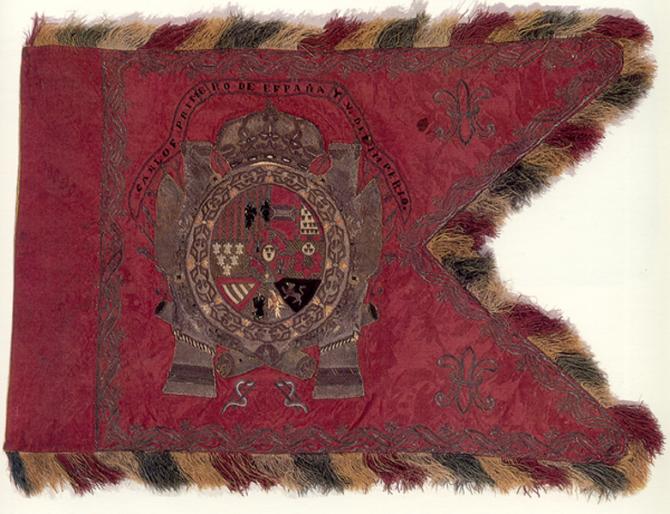 Carlos 1er drapeau de l'Espagne et V. de l'Empire