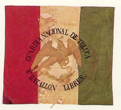 Drapeau du bataillon léger de Toluca