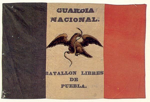 Drapeau du bataillon libre de Puebla (1846)