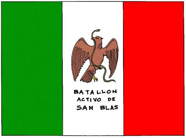 Drapeau du bataillon San Blas (1848)