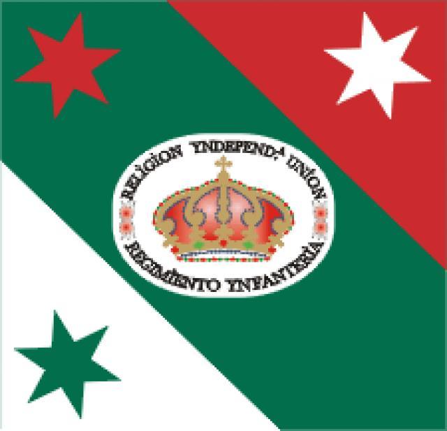 Drapeau du régiment d'infanterie d'Iturbide