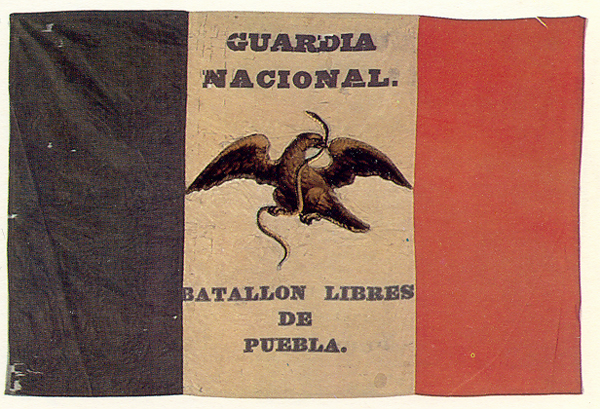 Flag of the Free Battalion of Puebla (1846)