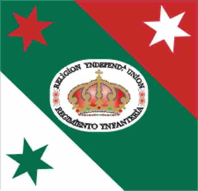 Flag of the Iturbide Infantry Regiment