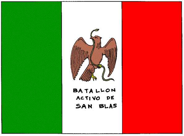 Flag of the San Blas Battalion (1848)