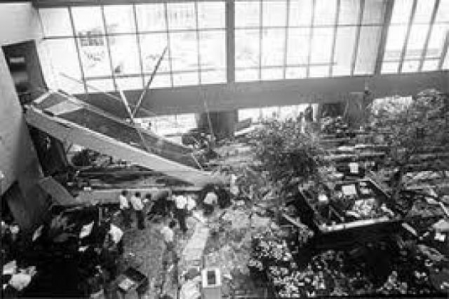 "Serious accident at the ""Hyatt Regency"" hotel in 1981"