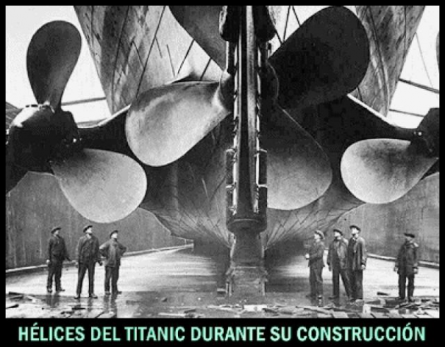 Sinking of the Titanic (propellers that only turned one way)