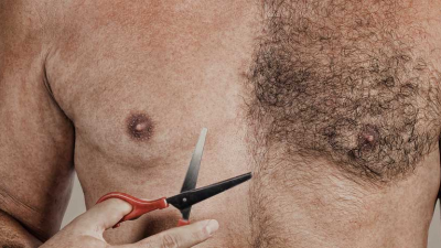 Unusual shaved male torsos