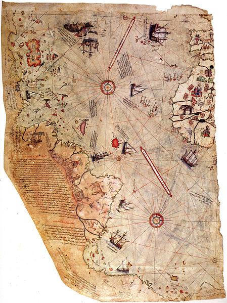 Kaart van Piri Reis