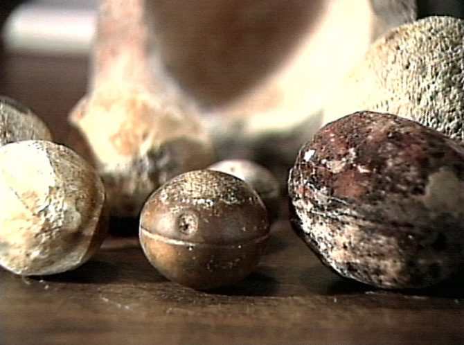 Metal spheres from Klerksdorp