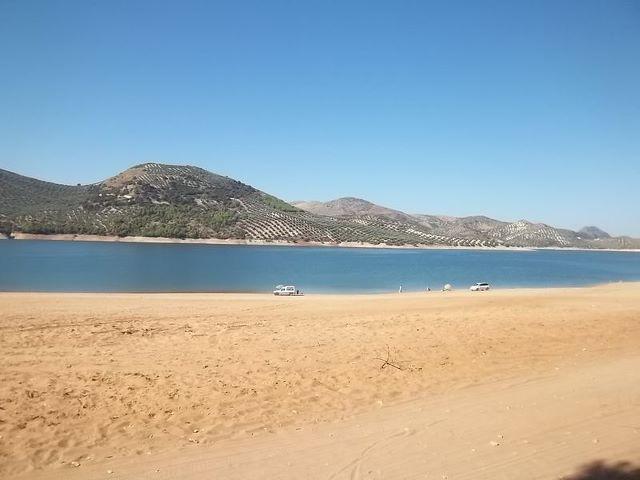 Playa de Valdearenas, Embalse de Iznájar (Andalucía)