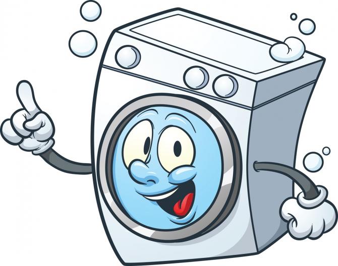 A máquina de lavar, a secadora e a máquina de lavar louça