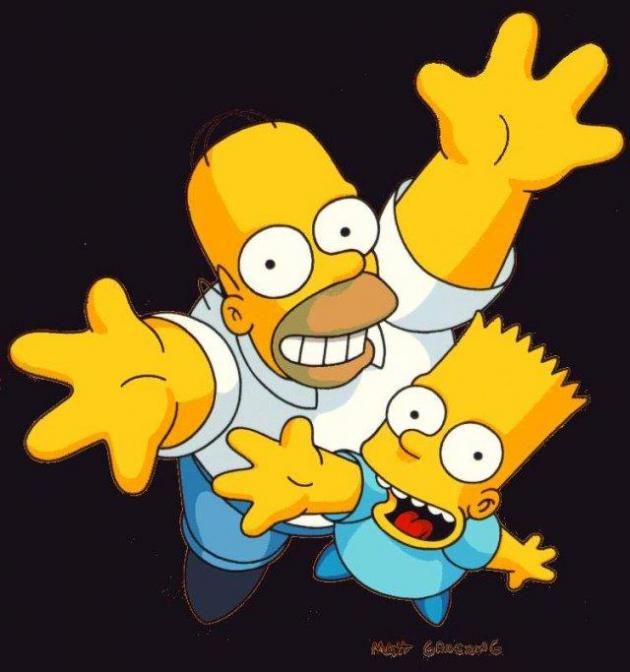 Bart y Homero