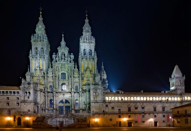 Santiago de Compostela: där natten är evig