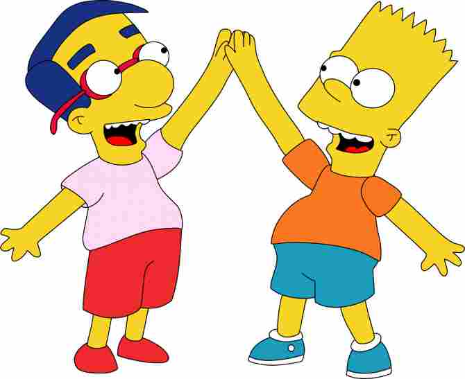 Bart Simpson y Milhouse