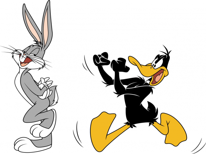 Bugs Bunny and Lucas Duck