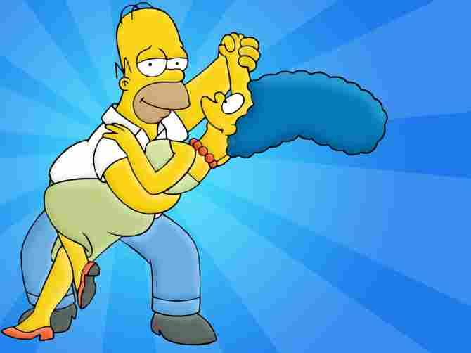 Homer y Marge Simpson