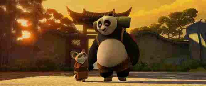 Kung Fu Panda y el Maestro Shifu